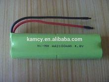 4.8v aa2100mah batteria ni-mh per aspirapolvere