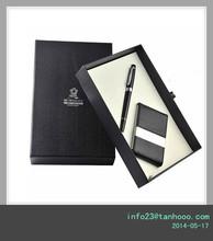 Custom promotional Pen & card holder Leather Gift Set