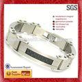 argento braccialetto manetta mens bracciali moda bracciali in acciaio inox