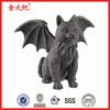Polyresin fake stone cat statue Winged cat figurine