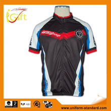 Factory price high quality cycling jersey Italy sublimation Ink OEM services in cheap dye skoda cycling jersey (B017)