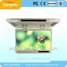 cheap 22 inch flip down lcd flat monitor