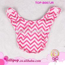 Wholesales! new style boutique cute Plain hot pink chevron cotton crochet baby bib