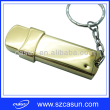 Promotion golden metal 2tb flash drive usb with key chain