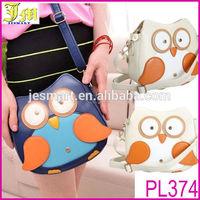 2014 New Lovely Women Faux Leather Thai Owl Pattern Small Cross Body Bag Satchel Shoulder Bag