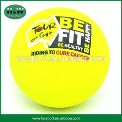 yellow sport rubber hand balls
