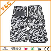 zebra grain for russia and europe markets velboa and non-slip pvc car mat