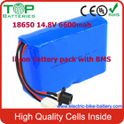 2014 Best Factory TOP Quality Customized 18650 14.8V 6600mah li-ion battery pack with BMS