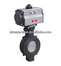 Bi-directional tight shutoff butterfly valve for regenerative dryer