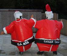 o mais novo 2014 funbels pai natal papai noel e ternos de sumô com tapete