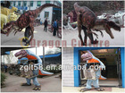 2014 animatronic realistic robotic dinosaur costume for adults