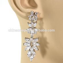 Cubic Zirconia Leaf Design Bridal Stud Earring