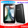 Original Lenovo A1010 1024x600 Pixel 1.2GHz MTK8317 CPU 3G And WiFi smart pad 7inch tablet pc android mid lenovo tablet pc
