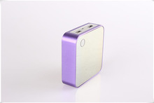 touch screen double output customised picture power bank with led light