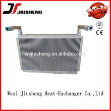Air cooled brazed aluminum heavy equipment radiator
