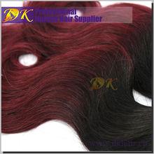 100% Virgin Mongolian Wavy Curly Straight burgundy highlights on dark brown hair