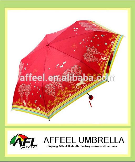 """21"""" x7k signore ombrellone pieghevole, ombrello promozionale"""