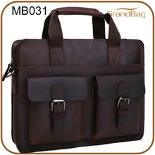 2014 hot selling men's crazy horse leather business briefcase / leather laptop bag for men