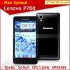 Lenovo P780 MTK6589 quad core dual sim phone android 1gb ram 3g wifi gps mobile phone