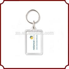 2014 personalized custom promotional fashion acrylic keychain photo insert