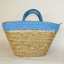 2014 New design natural corn husk straw bag