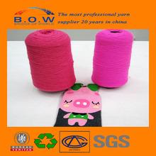 acrylic yarn hank dyed basketball socks/wholesale custom socks/cone yarn bulked brand B.O.Wsoftening acrylic yarn