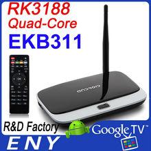 CS918 Quad Core TV Box RK3188 28nm Cortex-A9 Quad core 1.8GHz 2GB+16GB Wifi remote control android 4.2 quad core tv box