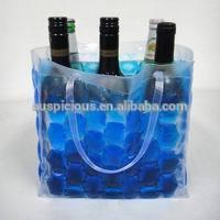 2014 Fashion color 6 pack bottle carrier PVC ice beer gel bag