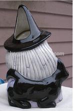 Easter decoration vintage ceramic witch candle holder