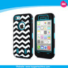 Wave Pattern Three Layers Silicone & PC Cover Hybrid Hard Case For Apple iPhone 5C