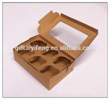Kraft paper cupcake packaging boxes food packaging