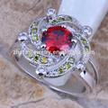 Lt. Siam anéis de zircão azul redonda anéis de esmeralda pedra de preços