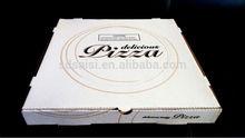 offset printing plain white order kraft paper pizza carton boxes