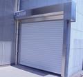 rollo de metal de la puerta