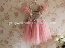 Sequin Dress TUTU Dress Sleeveless Clothing Clothings Girls Dress