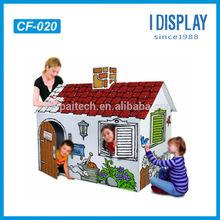 kraft paper toy children cardboard furniture playing house