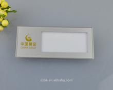 morden bianco acrilico trasparente nome del titolare biglietti da visita con un perno