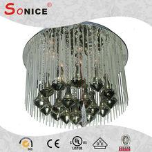 Cheap china manufacturer modern black glass chandelier