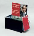 สีดำอะคริลิพลาสติกที่กำหนดเองกล่องบริจาคเงินขายส่งกับผู้ถือโบรชัวร์