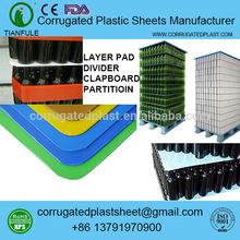 polypropylene corrugated plastic separators for bottle pallet