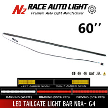 Lifetime warranty dual amber scanning 60inch CHVEROLE Silverado 1500~3500HD led tailgate light bar full function amber white red