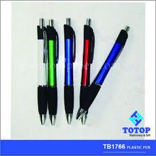 translucent plastic ball point pen