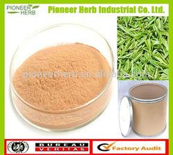 Instant green tea powder yellow brown fine powder