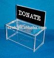พลาสติกอะคริลิชัดเจนที่กำหนดเองกล่องบริจาคเงินขายส่ง