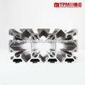 Perfil de aluminio tamaño del canal/perfil de aluminio de tubo soldado/perfil de aluminio