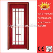 Mdf chapa de madera de la puerta SC-W026
