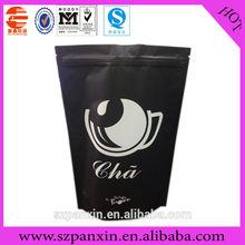 full printing matte PET/VMPET/PE stand up zipper tea bag