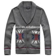 14WS804 cardigan men wool sweater