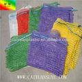 Pe venda quente raschel sacos de malha para venda para batata cebola alho