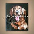 popular moderna handmade retrato da arte com pintura animal